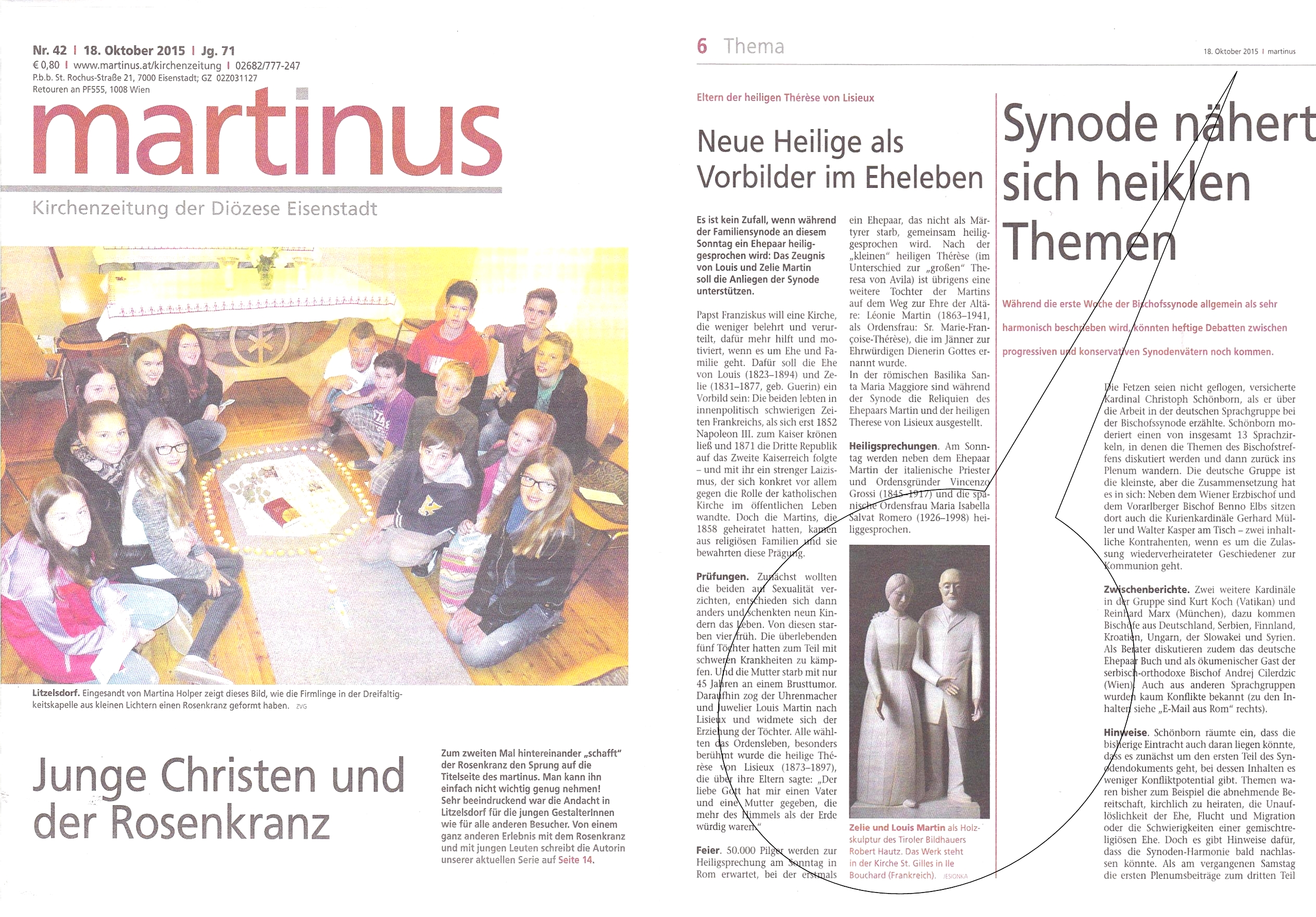 Kirchenzeitung Diözese Eisenstadt |Okt. 2015